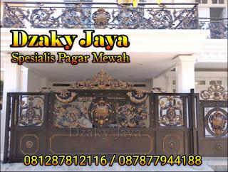 Hasil Pekerjaan Pagar Besi Tempa Klasik di Jatinegara