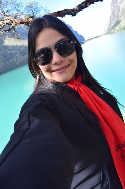 selfie de mulher jovem