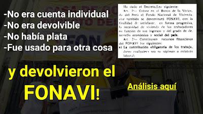 ANALISIS LEGAL Devolvieron el FONAVI devolverán la ONP los fonavistas lograron que les devuelvan sus fondos