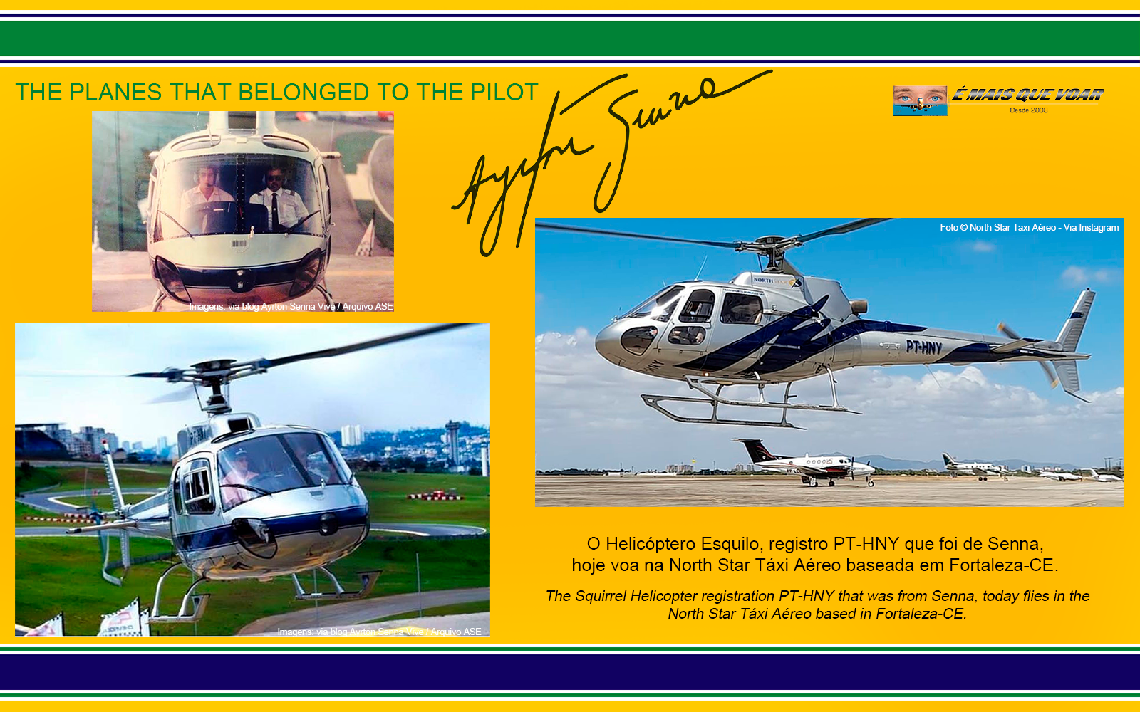 PT-HNY - Esquilo AS350 - Os helicópteros e os aviões que foram do piloto Ayrton Senna? | É MAIS QUE VOAR