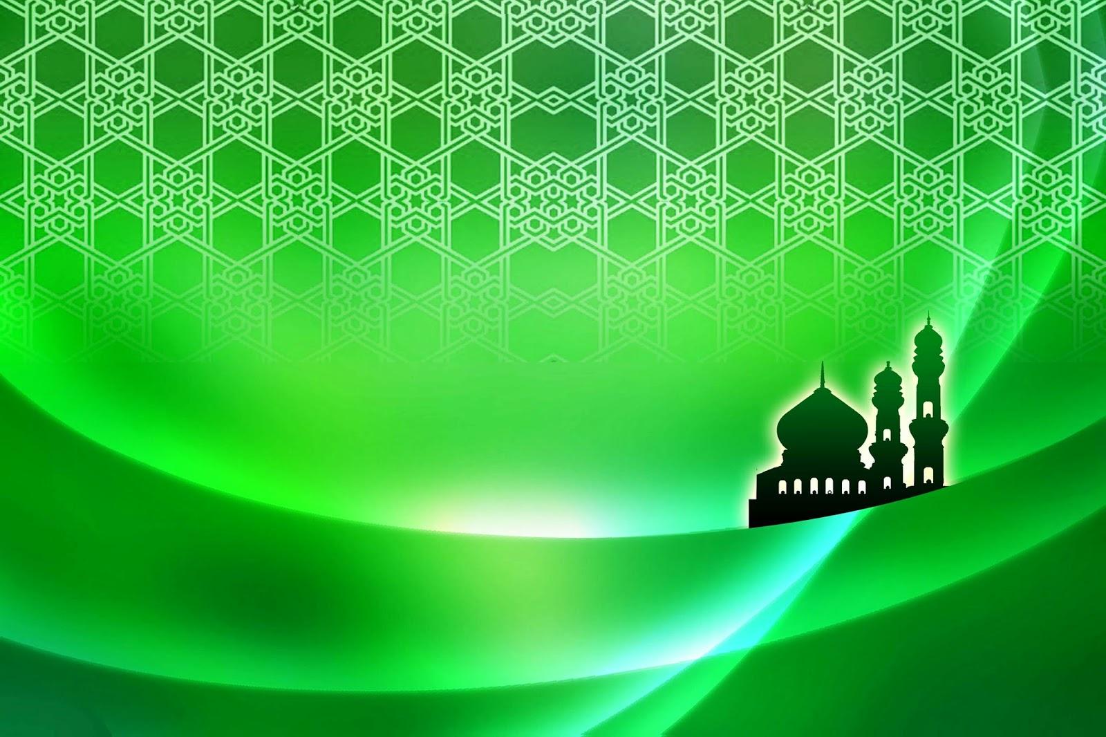 background islami hd hijau
