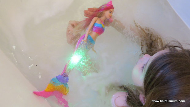 Barbie bath toy