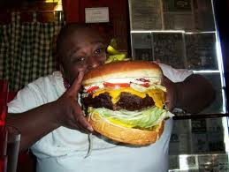 Man eating Big Burger