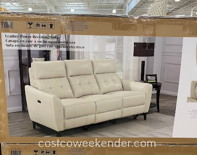 Costco 2000223 - Leather Power Reclining Sofa with Power Headrests: comfortable yet practical