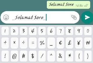 Cara membuat tulisan miring di WhatsApp (italic)