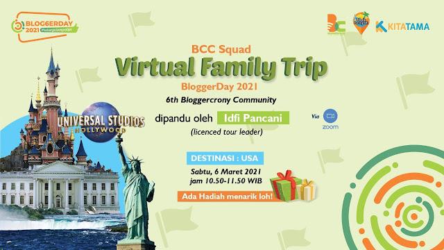 virtual trip BloggerDay 2021 Keluarga Jempolan