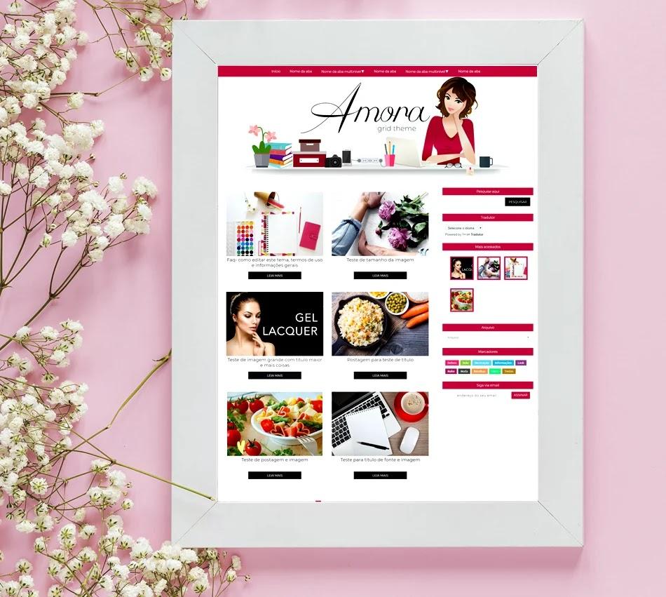 Botão Leia mais para os posts em formato grid e update do Tema Amora