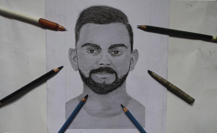 Yasartwork Virat Kohli Drawing