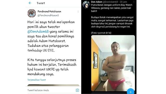 """Ferdinand Laporkan Don Adam Karena Menyebarkan Foto """"Sempak Merah"""""""