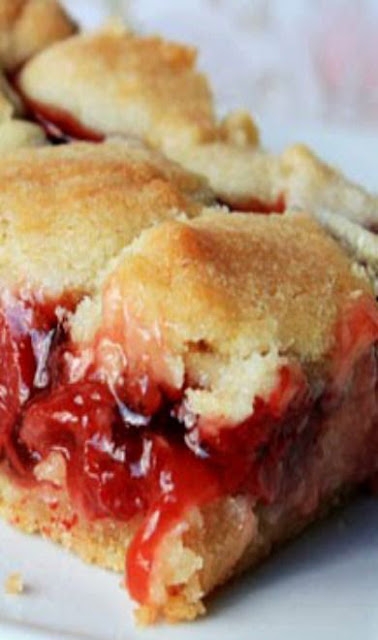 Delicious Cherry Pie Sugar Cookie Bars