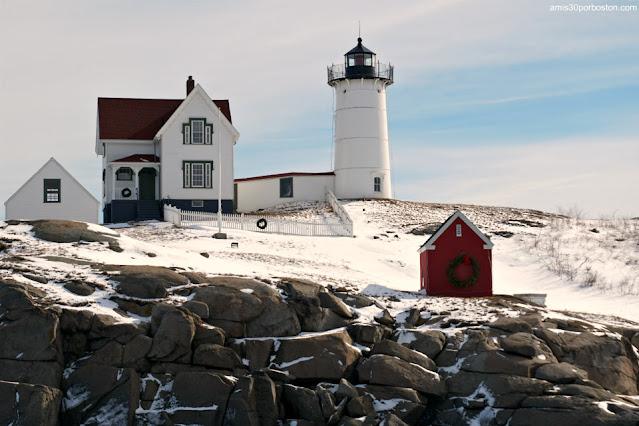 Nubble Lighthouse en York, Maine