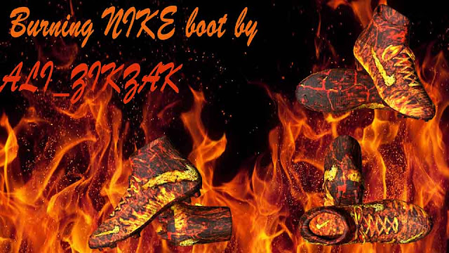 Burning Nike Boot by Ali_ZIKZAK For PES 2017