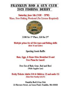 Rod & Gun Club fishing derby - Jun 5