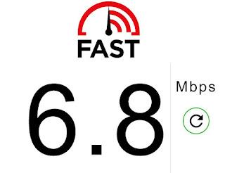 velocità internet fast.com