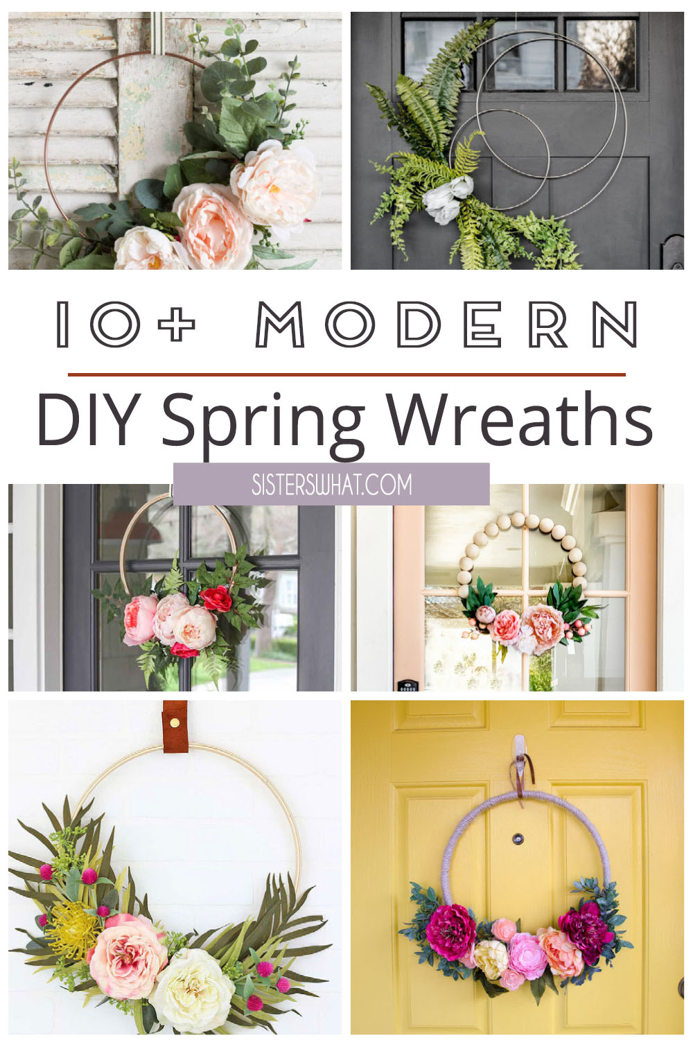 DIY Modern Floral Wreaths to make