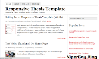 Responsive Thesis Blogger