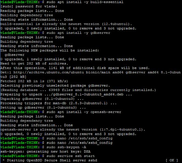 Visual studio linux development