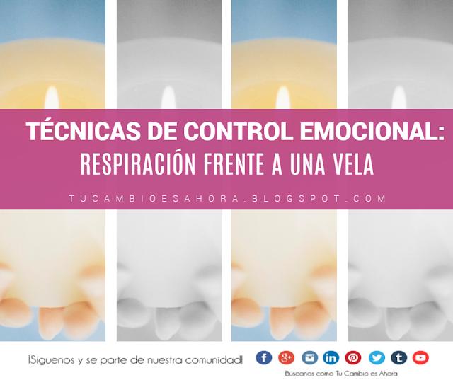 Manejos de las emociones: respiración frente a una vela