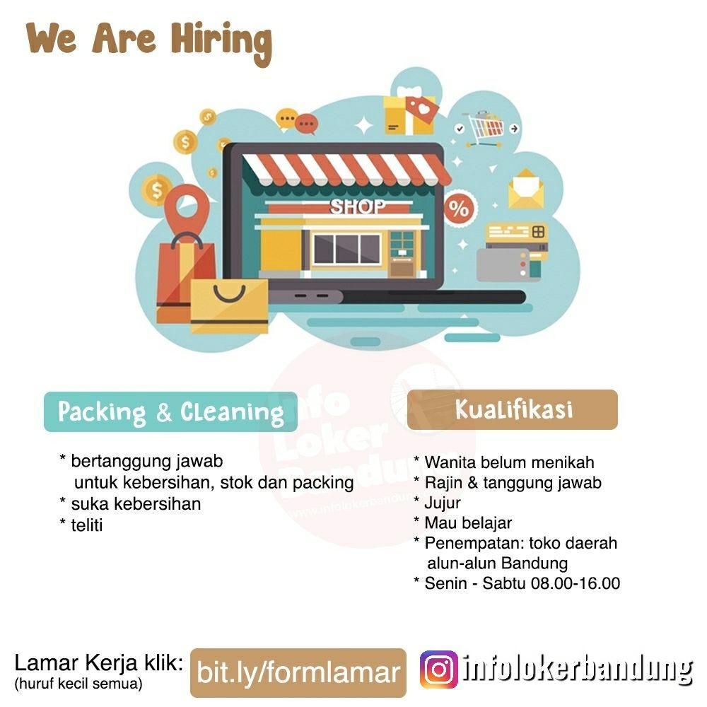Lowongan Kerja Packing & Cleaning Toko Online Shop Bandung Juli 2019