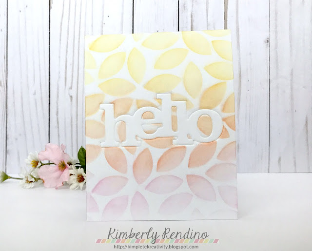 handmade card by Kimberly Rendino | Winnie & Walter | stencil | one layer card | papercraft | papercrafts | cardmaking | handmade | distress inks