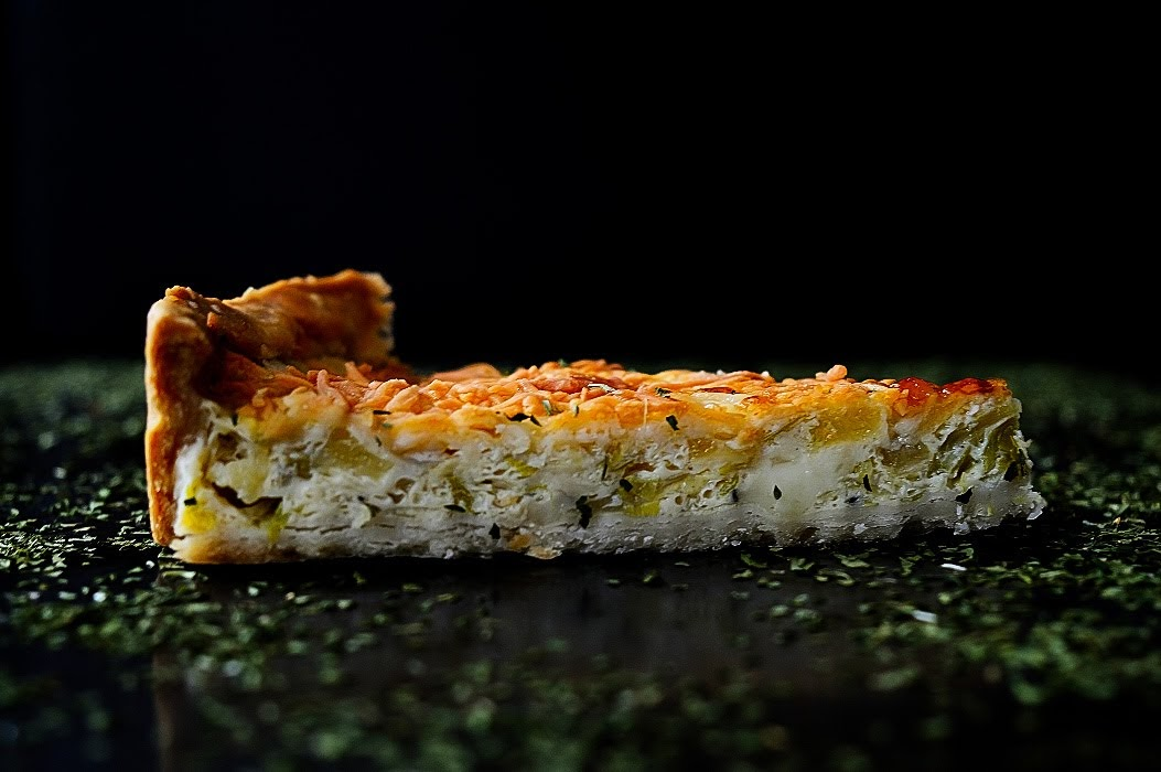 Quiche de calabacín, puerro y queso azul de Taramundi - TuvesyyoHago