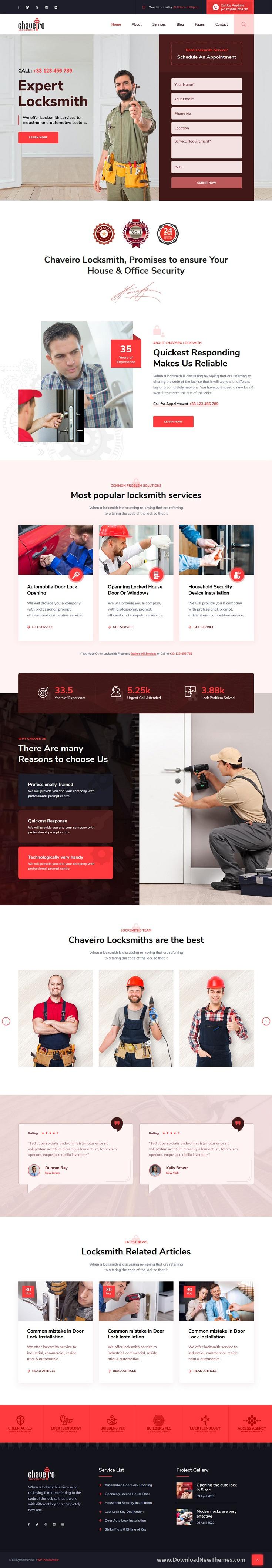 Locksmith Business HTML5 Template