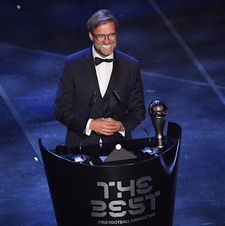 Jurgen Klopp named world's best coach at 2019 FIFA Football Awards
