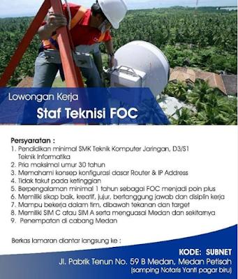 Info Lowongan Kerja Medan Juni 2020 di PT Jala Lintas Media (JLM) Sebagai Staff Tenisi FOC