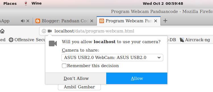 Cara Membuat Program Webcam Dengan Javascript Dan HTML Terbaru