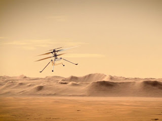 ingenuity nasa helikopteri uçuş görüntüsü