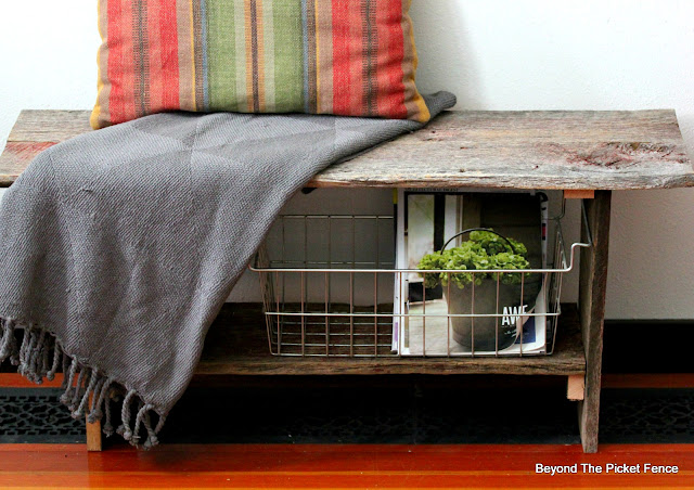 build a rustic bench from barn wood