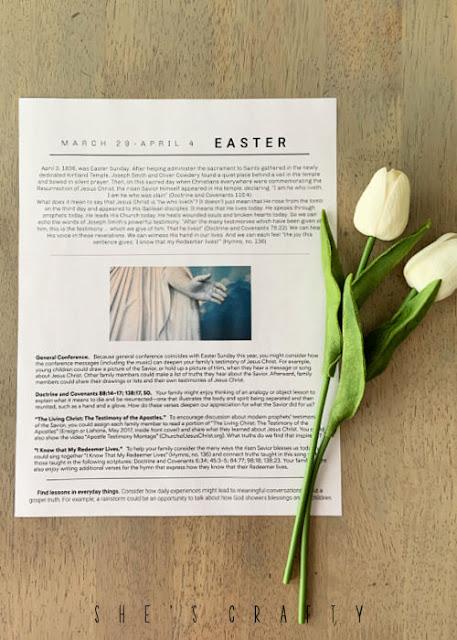 Easter Come Follow Me printable.