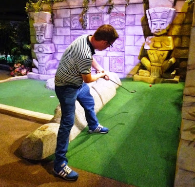 Playing at The Lost City Adventure Golf in Nottingham
