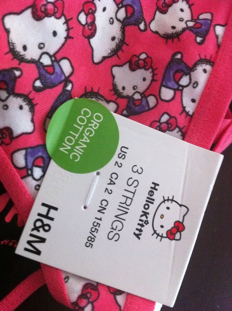 96de0fc3408d Brand New 3-pc set H&M Hello Kitty G-Strings Item # 039. Size : 32 (XS - S)