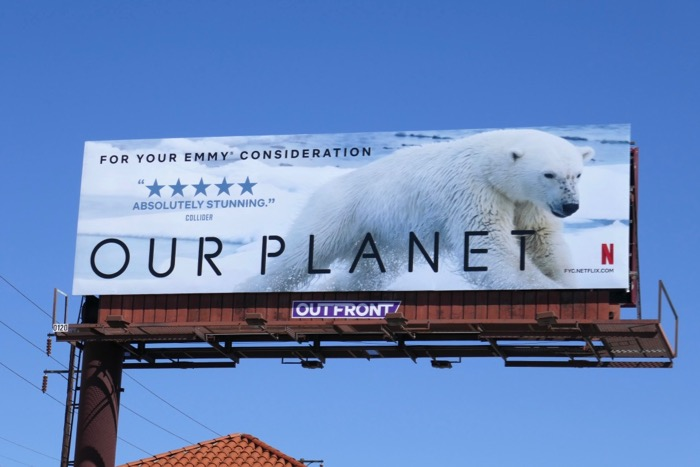 Our Planet season 1 Emmy FYC Polar Bear billboard