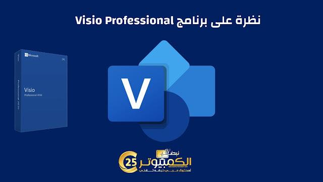 نظرة على برنامج Visio Professional