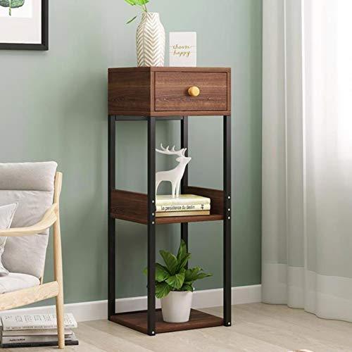 AMAZON - 3-Tier Side Table with Storage Shelf