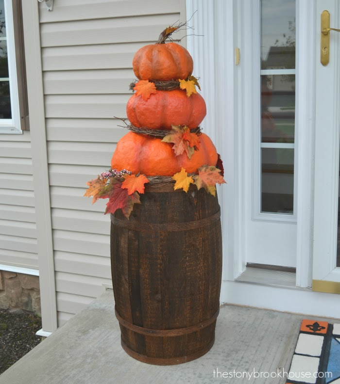 Stacked DIY Pumpkins