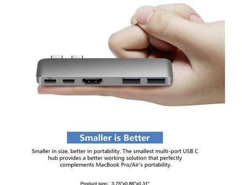 Purgo PG-TC402 Mini USB C Hub Adapter Dongle