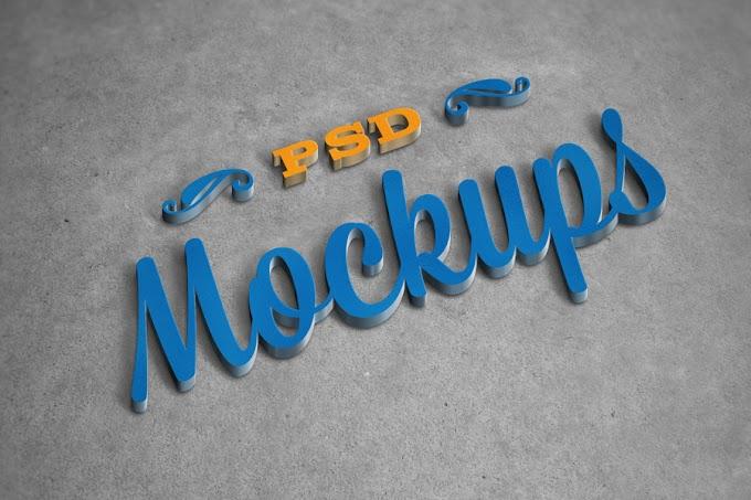 PSD 5 Logo Mockup