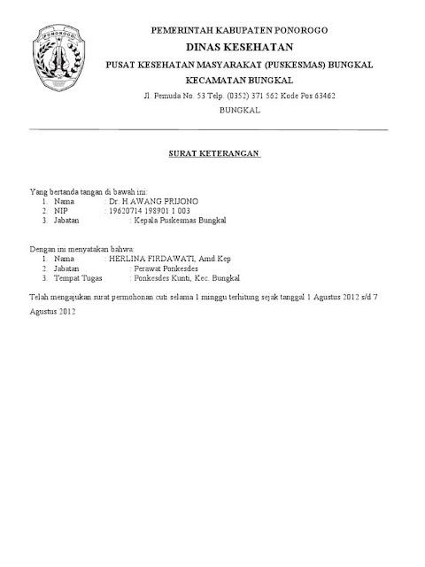 contoh surat permohonan izin kuliah untuk kantor