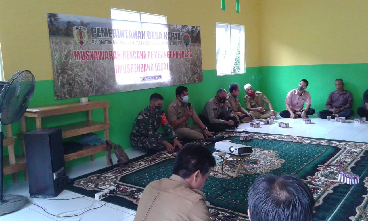 Musrenbang Desa Kapar, Tiga Pilar BAS Sosialisasikan Protkes Dan Perbup HST