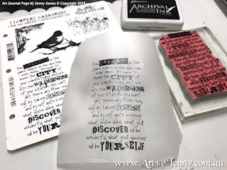 Tim Holtz Stamps called Urban Tapestry printed onto tissue paper using Archival Ink