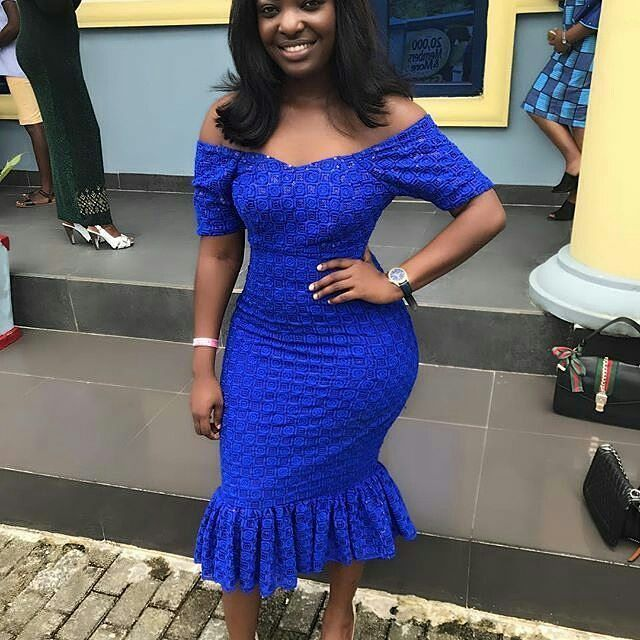 Simple Mesmerising Short Gown Styles You Can Sew with Lace Aso Ebi     Zaineey's Blog