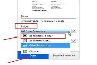 bookmark mozilla seperti bookmark chrome