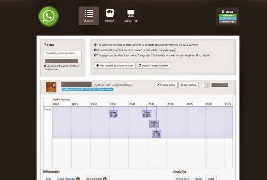 تطبيق WhatsSpy للتجسس على مستخدمي واتس آب