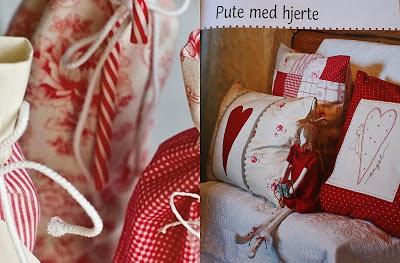 almofada de coração em patchwork e bordado