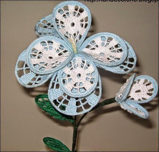 Flores decorativas crochet