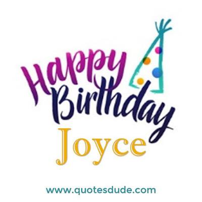 Wishing Happy Birthday Joyce With Cake.