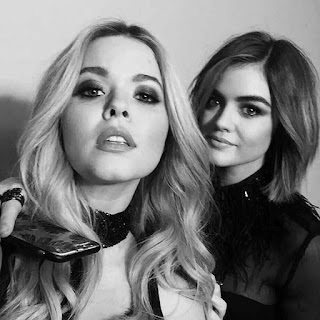 Lucy Hale and Sasha Pieterse BTS PLL Photo Shoot